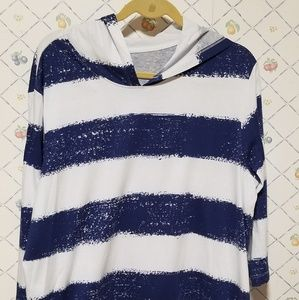Denim& Co striped shirt size M A233433